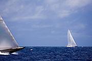 Hanuman, J Class, sailing in the 2010 St. Barth's Bucket superyacht regatta, race 2.