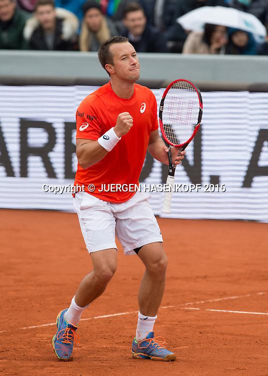 Philipp Kohlschreiber (GER) macht die Faust und jubelt,Jubel,Emotion,, Endspiel, Final<br /> <br /> Tennis - BMW Open2016 -  ATP  -  MTTC Iphitos - Munich - Bavaria - Germany  - 1 May 2016.