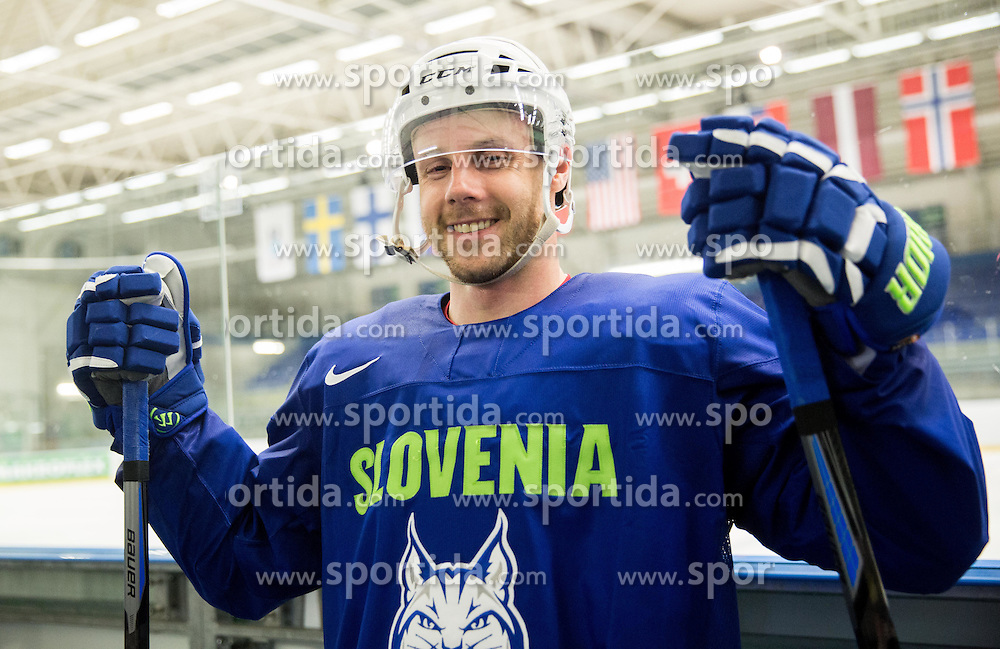 Jan Mursak during practice session of Slovenian National Ice Hockey Team 1 day prior to the 2015 IIHF World Championship in Czech Republic, on April 30, 2015 in Practice arena Ostrava, Czech Republic. Photo by Vid Ponikvar / Sportida