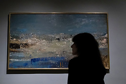 A new exhibition at the Scottish National Gallery of Modern Art gives an opportunity to trace the life and work of one of Scotland's most admired artists, Joan Eardley. <br /> <br /> Joan Eardley: A sense of place charts through unpublished archival material and loans from private collections the unique working methods of the artist Joan Eardley.<br /> <br /> Pictured: Seascape (Foam and Blue Sky) 1962