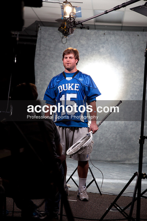 22 May 2009: Duke Blue Devils goalkeeper Rob Schroeder (15) during an ESPN filming session after practice at Gillette Stadium in Boston, MA.