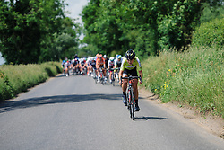 Esra Tromp (Parkhotel Valkenburg) tries to escape again at Aviva Women's Tour 2016 - Stage 1. A 138.5 km road race from Southwold to Norwich, UK on June 15th 2016.