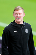 Sean Longstaff (#36) of Newcastle United arrives ahead of the Premier League match between Newcastle United and Watford at St. James's Park, Newcastle, England on 31 August 2019.