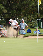 Jul 31, 2005; Grand Blanc, MI, USA; Ian Leggatt plays out of the greenside bunker on hole number eight during final round play at the 2005 Buick Open at the Warwick Hills Golf and Country Club.  Copyright © 2005 Kevin Johnston