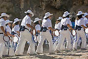Israel, Jerusalem, People marching in the Jerusalem annual parade October 2009