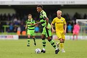 Forest Green Rovers Keanu Marsh-Brown(7) on the ball during the Pre-Season Friendly match between Forest Green Rovers and Bristol Rovers at the New Lawn, Forest Green, United Kingdom on 22 July 2017. Photo by Shane Healey.