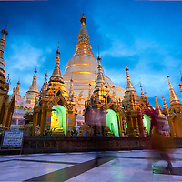 Yangon's greatest temple by dusk