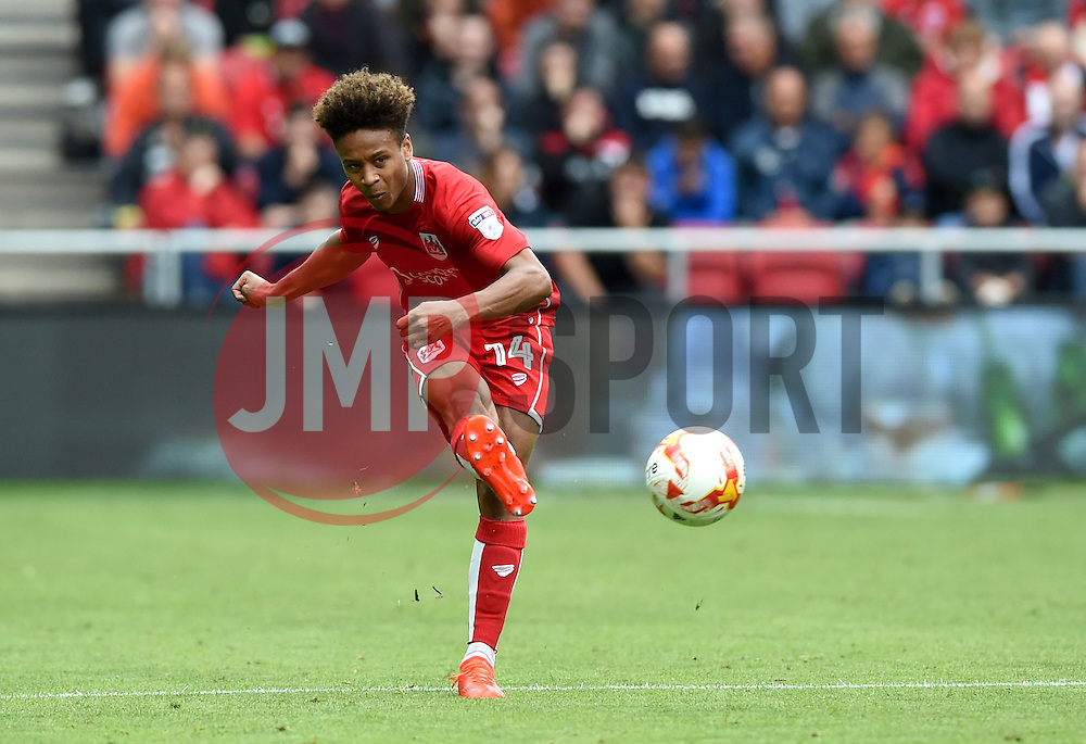 Bobby Reid of Bristol City  - Mandatory by-line: Joe Meredith/JMP - 20/08/2016 - FOOTBALL - Ashton Gate - Bristol, England - Bristol City v Newcastle United - Sky Bet Championship