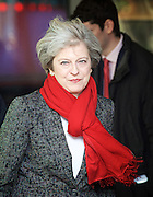 Andrew Marr Show arrivals at Broadcasting House, BBC TV, London, Great Britain <br /> 22nd January 2017 <br /> <br /> <br /> Theresa May MP <br /> Prime Minster <br /> departs the BBC <br /> <br /> <br /> Photograph by Elliott Franks <br /> Image licensed to Elliott Franks Photography Services