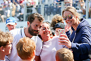 Jamie Dornan (fifty shades of grey) in a selfie with female fans during the Celebrity Pro-Am day at Wentworth Club, Virginia Water, United Kingdom on 23 May 2018. Picture by Phil Duncan.