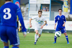 Luka Zahovic of Slovenia during football game between Slovenia and Andorra of UEFA Under19 Championship Qualifications, on October 15, 2013 in Bakovci, Slovenia. (Photo by Erik Kavas / Sportida)