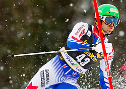 THEOLIER Steven of France competes during the 1st Run of 10th Men's Slalom - Pokal Vitranc 2013 of FIS Alpine Ski World Cup 2012/2013, on March 10, 2013 in Vitranc, Kranjska Gora, Slovenia. (Photo By Vid Ponikvar / Sportida.com)