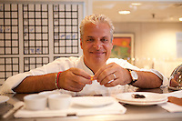 Chef Eric Ripert, restaurant Bernardin, Michelin Three Star Restaurant in New York, specializing in fishChef Eric Ripert, restaurant Le Bernardin, Michelin Three Star Restaurant in New York, specializing in fish