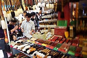 Panjiayuan weekend market. Paint brush shop.