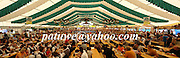 panorama, Beer tent, Gaubodenfest in Straubing, Bavaria, Germany