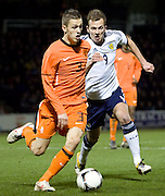 Holland's Jeffrey Gouweleeuw and Scotland's Jordan Rhodes - Scotland v Holland - UEFA U21 European Championship qualifier at St Mirren Park..© David Young - .5 Foundry Place - .Monifieth - .Angus - .DD5 4BB - .Tel: 07765 252616 - .email: davidyoungphoto@gmail.com.web: www.davidyoungphoto.co.uk