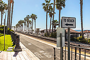 Train Tracks Through San Clemente in the Pier Bowl