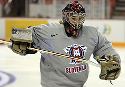 Goalkeeper Robert Kristan at practice of Slovenian national team at Hockey IIHF WC 2008 in Halifax,  on May 04, 2008 in Metro Center, Halifax, Canada.  (Photo by Vid Ponikvar / Sportal Images)