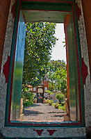 Looking through the portal to Amlapura Palace in Bali, Indonesia