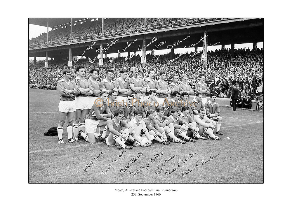 Signed team shot of the Meath football team, runners-up to Galway in the 1966 All-Ireland Football Final.<br />