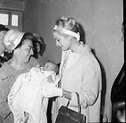 Princess Grace of Monaco visits Our Lady's Hospital for Sick Children, Crumlin, where she chatted with patients and parents, and helped to distribute some 500 boxes of chocolates as gifts throughout the wards..12.06.1961