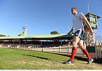 13 June 2013; Ian Evans, British & Irish Lions, arrives for forwards training ahead of their game against NSW Waratahs on Saturday. British & Irish Lions Tour 2013, Forwards Training, North Sydney Oval, Sydney, New South Wales, Australia. Picture credit: Stephen McCarthy / SPORTSFILE