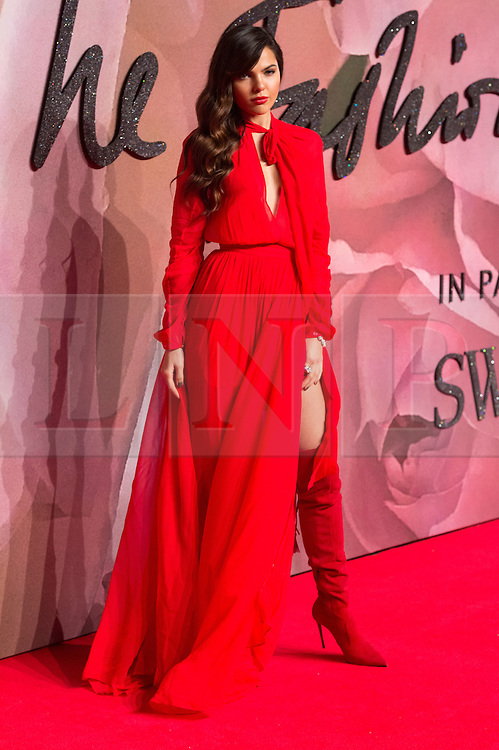 © Licensed to London News Pictures. 05/12/2016. DOINA CLOBANU arrives for The Fashion Awards 2016 celebrating the best of British and international fashion. London, UK. Photo credit: Ray Tang/LNP