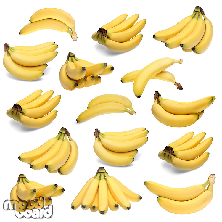 Bananas on white background - studio shot