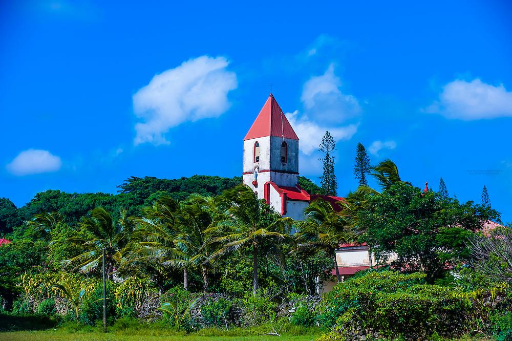 Church, La Roche, Island of Mare, Loyalty Islands, New Caledonia