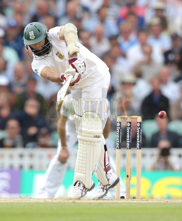 © Andrew Fosker / Seconds Left Images 2012 - South Africa's Hashim Amla flicks the ball off his legs  England v South Africa - 1st Investec Test Match -  Day 2 - The Oval  - London - 20/07/2012