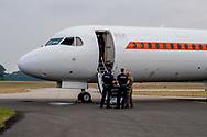 wonesdrecth - Interior of the old government airplane  PH-KBX. The plane has been sold to an Australian airline. Governors and members of the royal house have flown with the KBX since 1996. King willem-alexander fly queen maxima copyright robin utrecht<br /> WOENSDRECHT - Interieur van het oude regeringstoestel PH-KBX. Het vliegtuig is verkocht aan een Australische vliegmaatschappij. Bewindslieden en leden van het koningshuis hebben sinds 1996 met de KBX gevlogen.  koning willem-alexander vliegen koningin maxima copyright robin utrecht