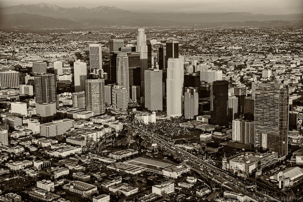 Downtown Los Angeles & San Gabriel Mountains