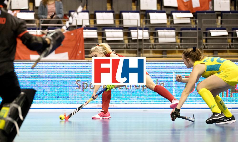 BERLIN - Indoor Hockey World Cup<br /> Quarterfinal 1: Belarus - Australia<br /> foto: BAHUSHEVICH Sviatlana.<br /> WORLDSPORTPICS COPYRIGHT FRANK UIJLENBROEK
