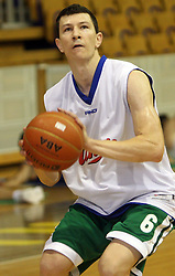 Vlatko Ilievski at first open practice of KK Union Olimpija in the new season 2008/2009, on August 21, 2008 in Hala Tivoli, Ljubljana, Slovenia. (Photo by Vid Ponikvar / Sportal Images)