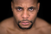 LAS VEGAS, NEVADA - DECEMBER 31:  UFC light heavyweight Daniel Cormier poses for a portrait during a UFC photo session inside the MGM Grand Conference Center on December 31, 2014 in Las Vegas, Nevada. (Photo by Jeff Bottari/Zuffa LLC/Zuffa LLC via Getty Images) *** Local Caption ***Daniel Cormier