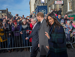 Harry and Meghan's leave after their visit to Social Bite in Edinburgh.