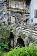 Burg Stolpen, Renaissancetor, Sachsen, Deutschland.|.Stolpen castle, Saxony, Germany