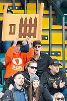 KELOWNA, BC - OCTOBER 6: Fans at the Apple Bowl on October 6, 2019 in Kelowna, Canada. (Photo by Marissa Baecker/Shoot the Breeze)