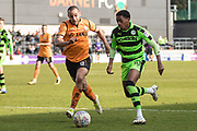 Forest Green Rovers Reece Brown(10) runs forward during the EFL Sky Bet League 2 match between Barnet and Forest Green Rovers at The Hive Stadium, London, England on 7 April 2018. Picture by Shane Healey.
