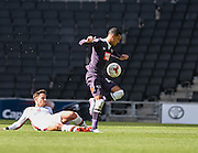 Derby County midfielder Thomas Ince puts his side 3-1 up during the Sky Bet Championship match between Milton Keynes Dons and Derby County at stadium:mk, Milton Keynes, England on 26 September 2015. Photo by David Charbit.