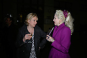 Louisa Buck and Pinkietessa , Other,Riyas Komu and Peter Drake. - VIP  launch of Aicon. London's largest contemporary Indian art gallery. Heddon st. and afterwards at Momo.15 Marc h 2007.  -DO NOT ARCHIVE-© Copyright Photograph by Dafydd Jones. 248 Clapham Rd. London SW9 0PZ. Tel 0207 820 0771. www.dafjones.com.