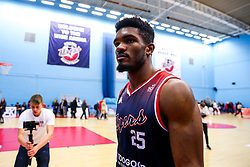 Marcus Delpeche of Bristol Flyers after Bristol Flyers win 92-72 - Rogan/JMP - 11/10/2019 - BASKETBALL - SGS Wise Arena - Bristol, England - Bristol Flyers v Plymouth Raiders - BBL Cup.