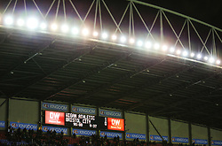 The final score reads Wigan Athletic 1-0 Bristol City - Mandatory by-line: Matt McNulty/JMP - 21/09/2018 - FOOTBALL - DW Stadium - Wigan, England - Wigan Athletic v Bristol City - Sky Bet Championship