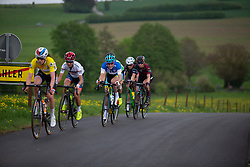 The front group on the second short loop of Stage 2 of the Festival Elsy Jacobs - a 111.1 km road race, starting and finishing in Garnich on April 29, 2018, in Luxembourg. (Photo by Balint Hamvas/Velofocus.com)