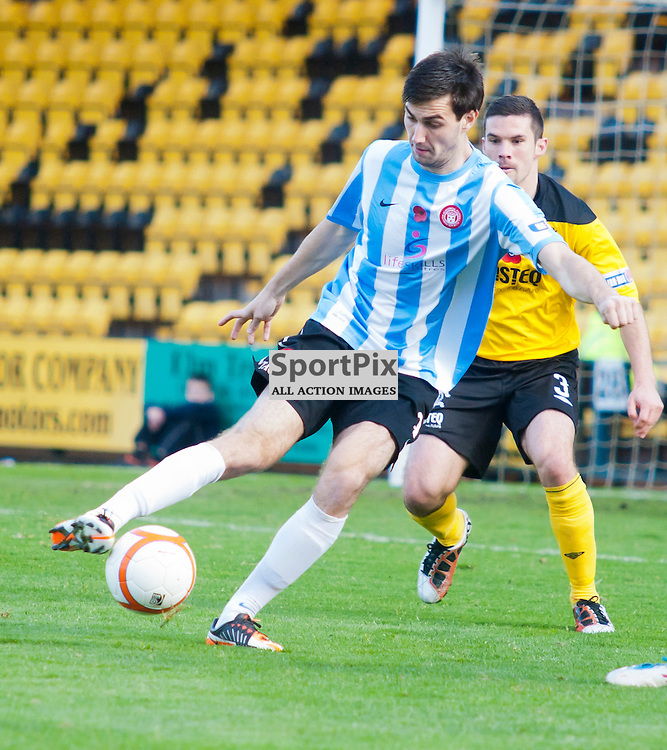 Hamilton's Matthew Paterson on the ball, Livingston v Hamilton SFL Division 1 League Match