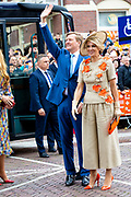 Koningsdag 2019 in Amersfoort / Kingsday 2019 in Amersfoort.<br /> <br /> Op de foto:  Koning Willem-Alexander en koningin Maxima  ///  King Willem-Alexander and Queen Maxima