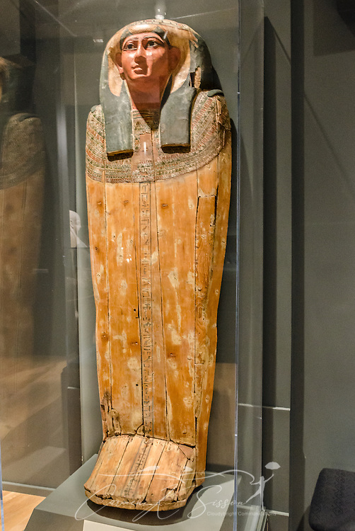 The outer coffin lid of Iawttayesheret, also known as Tayesheret, is displayed at the Michael C. Carlos Museum at Emory University, July 8, 2014, in Atlanta, Georgia. The museum was founded in 1876 and contains more than 17,000 artifacts in its permanent collections. (Photo by Carmen K. Sisson/Cloudybright)