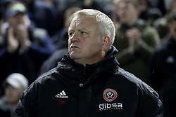 Sheffield United manager Chris Wilder looks on