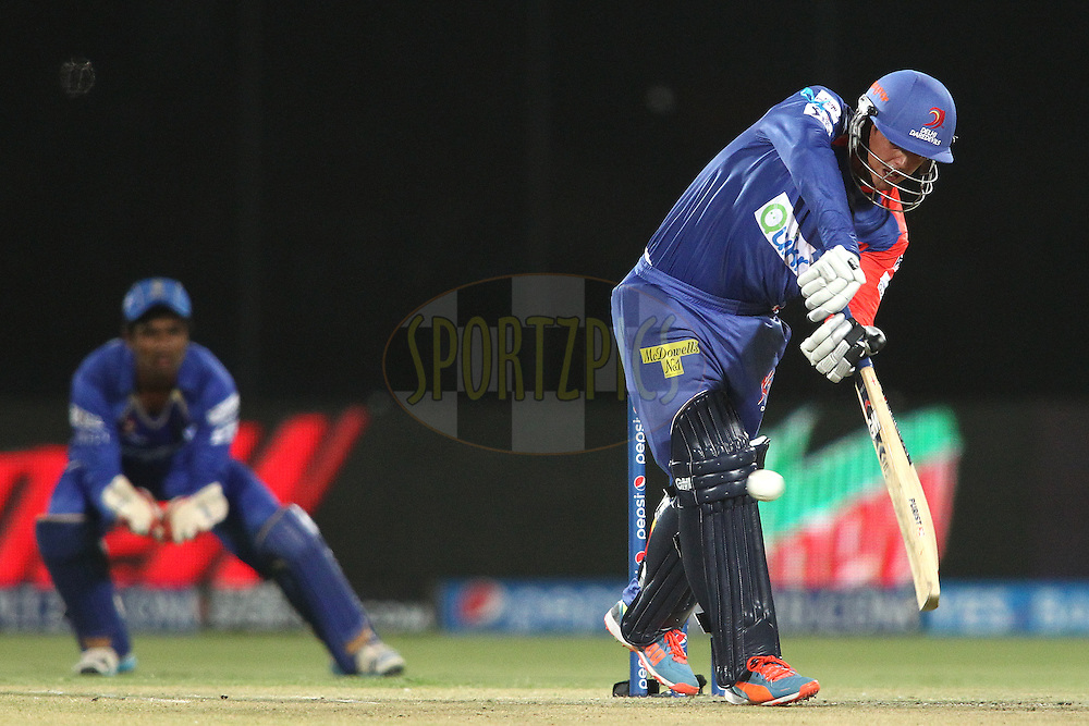 Quinton de Kock of the Delhi Daredevils  plays a delivery through the leg side during match 23 of the Pepsi Indian Premier League Season 2014 between the Delhi Daredevils and the Rajasthan Royals held at the Feroze Shah Kotla cricket stadium, Delhi, India on the 3rd May  2014<br /> <br /> Photo by Shaun Roy / IPL / SPORTZPICS<br /> <br /> <br /> <br /> Image use subject to terms and conditions which can be found here:  http://sportzpics.photoshelter.com/gallery/Pepsi-IPL-Image-terms-and-conditions/G00004VW1IVJ.gB0/C0000TScjhBM6ikg