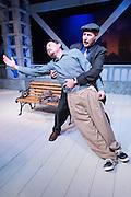 """The Bas Bleu Theatre Company rehearses Luv,"""" January 30, 2015."""